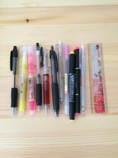 さよならするペン類