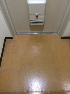 掃除前の玄関