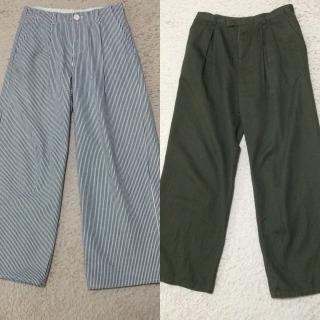 私服の制服化 ワイドパンツ