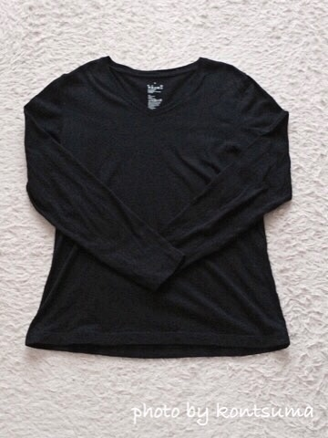 オーガニックコットン Vネックシャツ