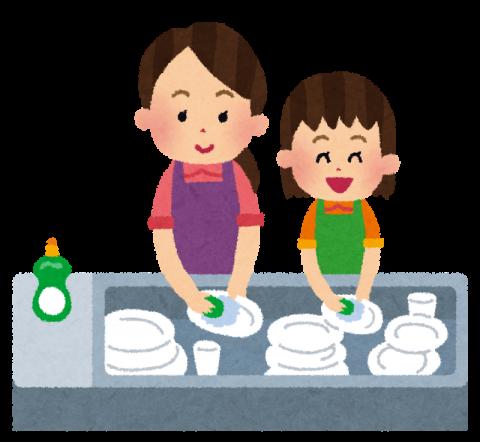 食器洗い イラスト