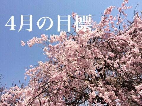 4月の目標 桜