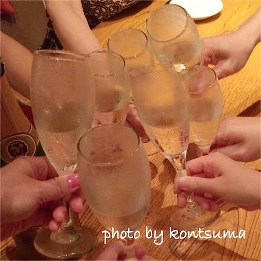乾杯 シャンパン 女子会