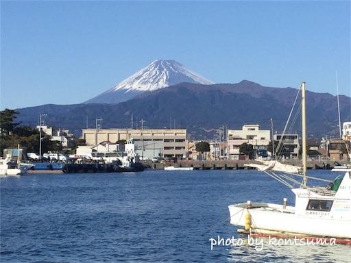 沼津港 富士山