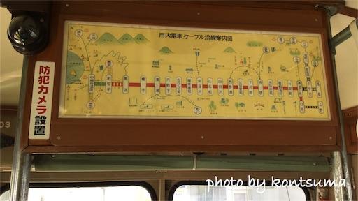 東武博物館 日光軌道203号 路線図