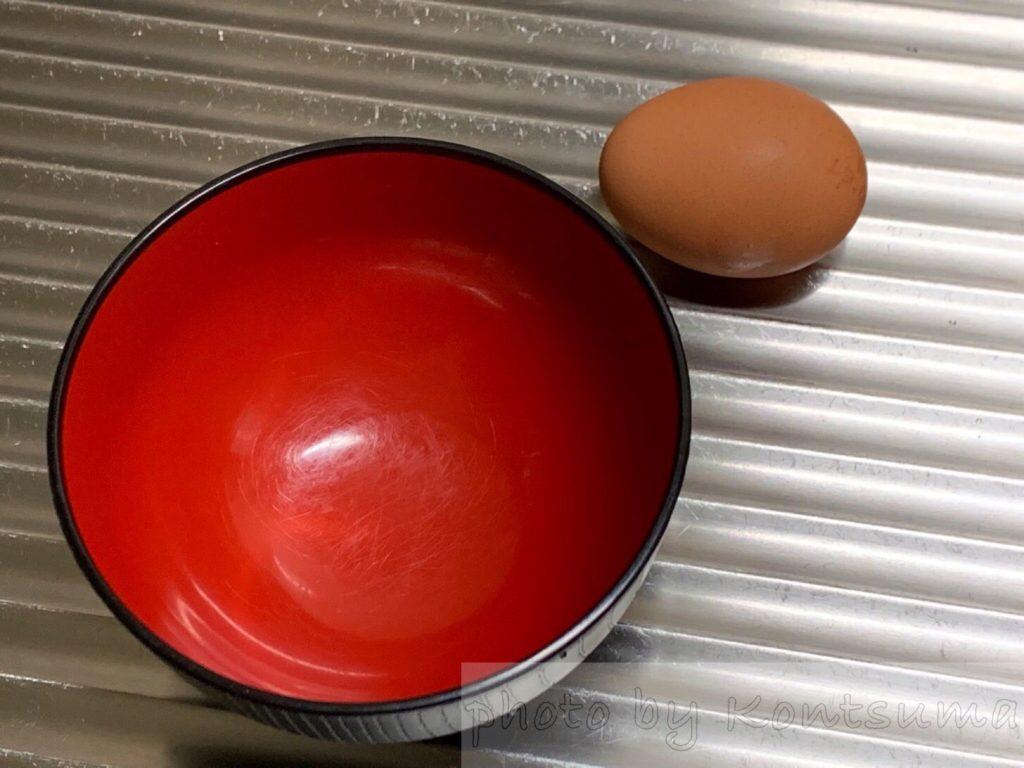 電子レンジで半熟卵