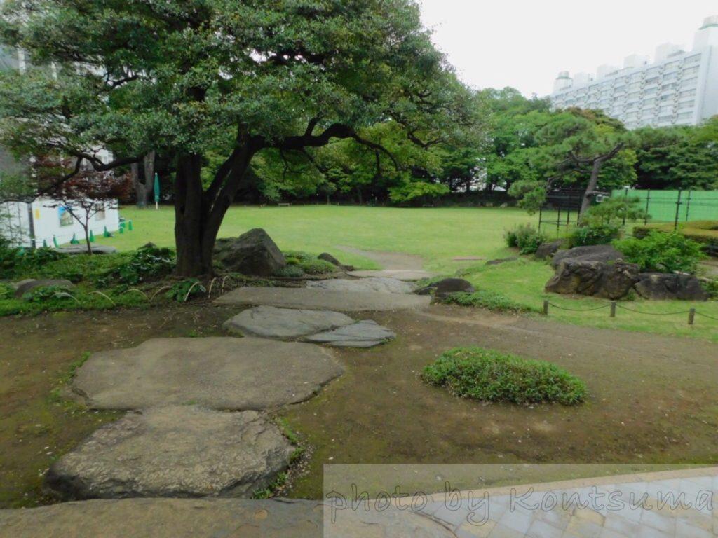 旧岩崎邸庭園 和館からの庭園