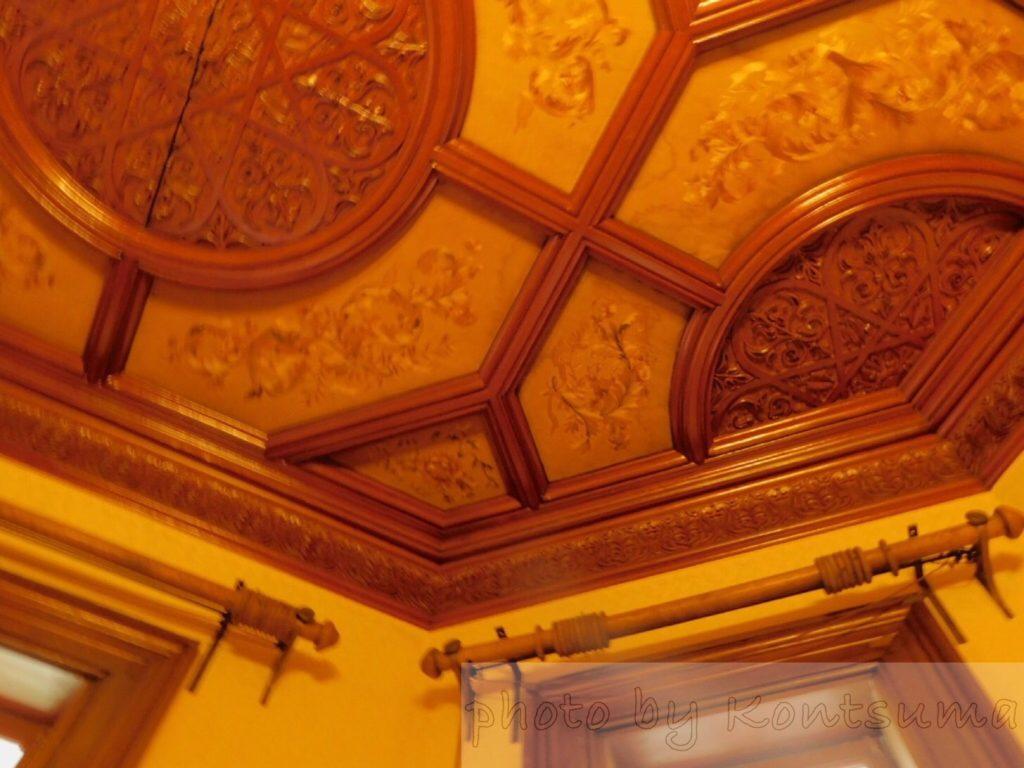 旧岩崎邸庭園 洋館天井