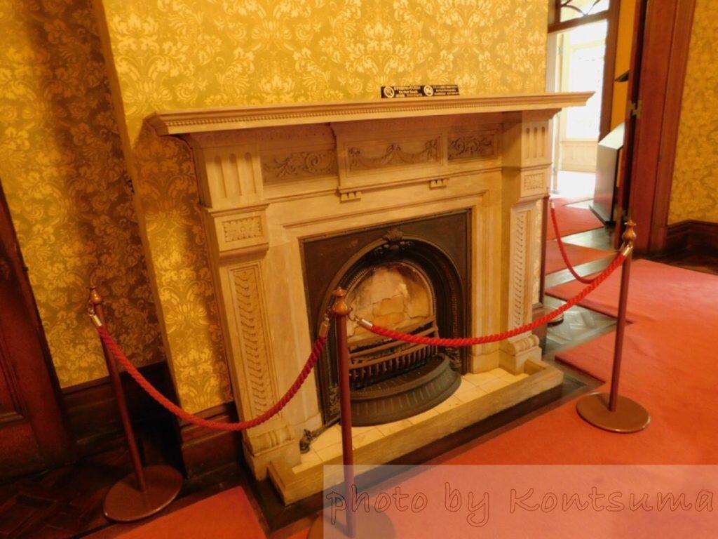 旧岩崎邸庭園 洋館暖炉