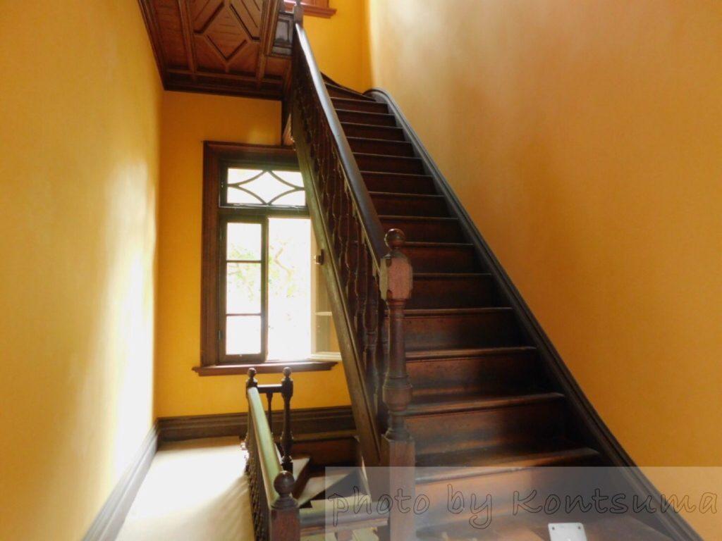 旧岩崎邸庭園 洋館 レトロ階段