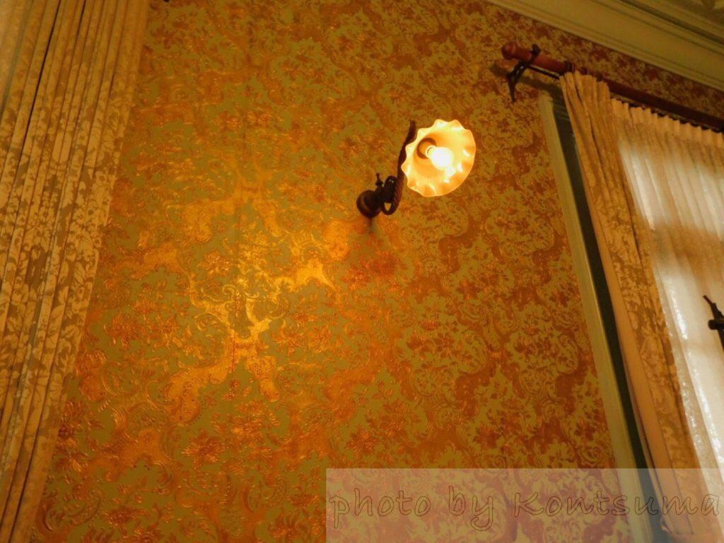 旧岩崎邸庭園 洋館 2階壁